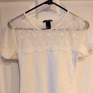 White Lace H&M Shirt